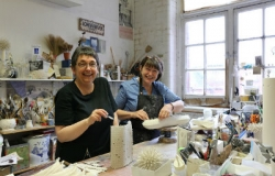 Carol Sinclair and Lorna Fraser of the Smart Plastics Group