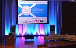 The Scottish Knowledge Exchange Awards stage